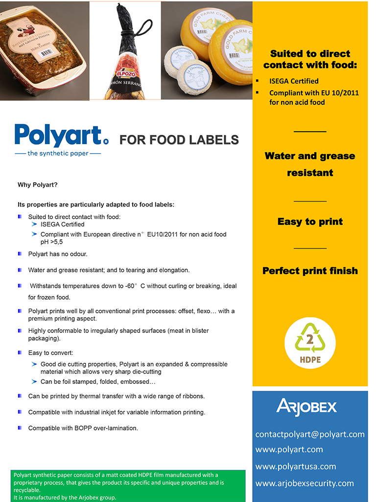 Polyart for food labels